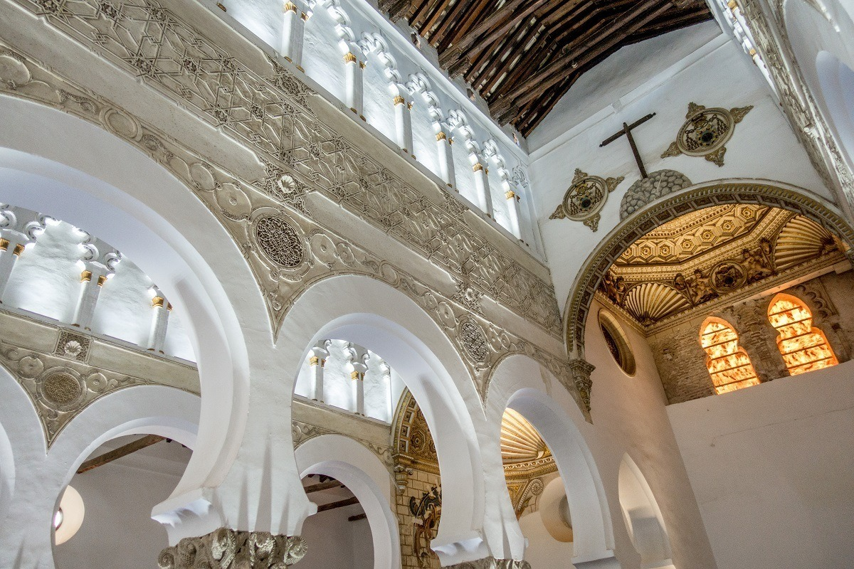 Details inside the Synagogue of Santa Maria la Blanca, one of our favorite sites in Toledo.