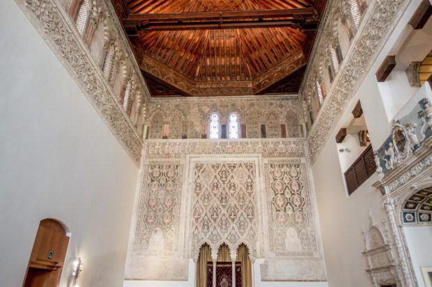 The synagogue that is the Museum of the Sephardic Culture in Toledo, Spain.