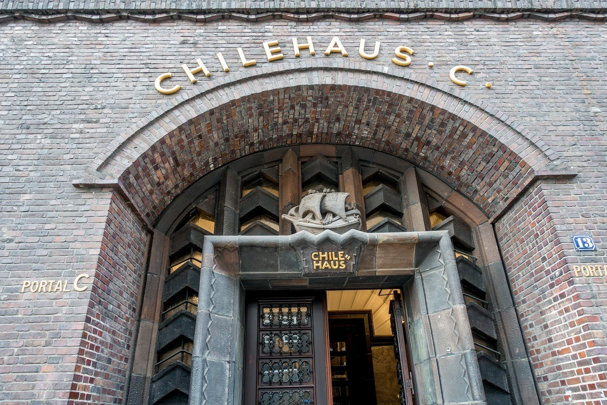 The Chilehaus, the most important building in the Kontorhaus District -- a UNESCO World Heritage Site in Hamburg, Germany