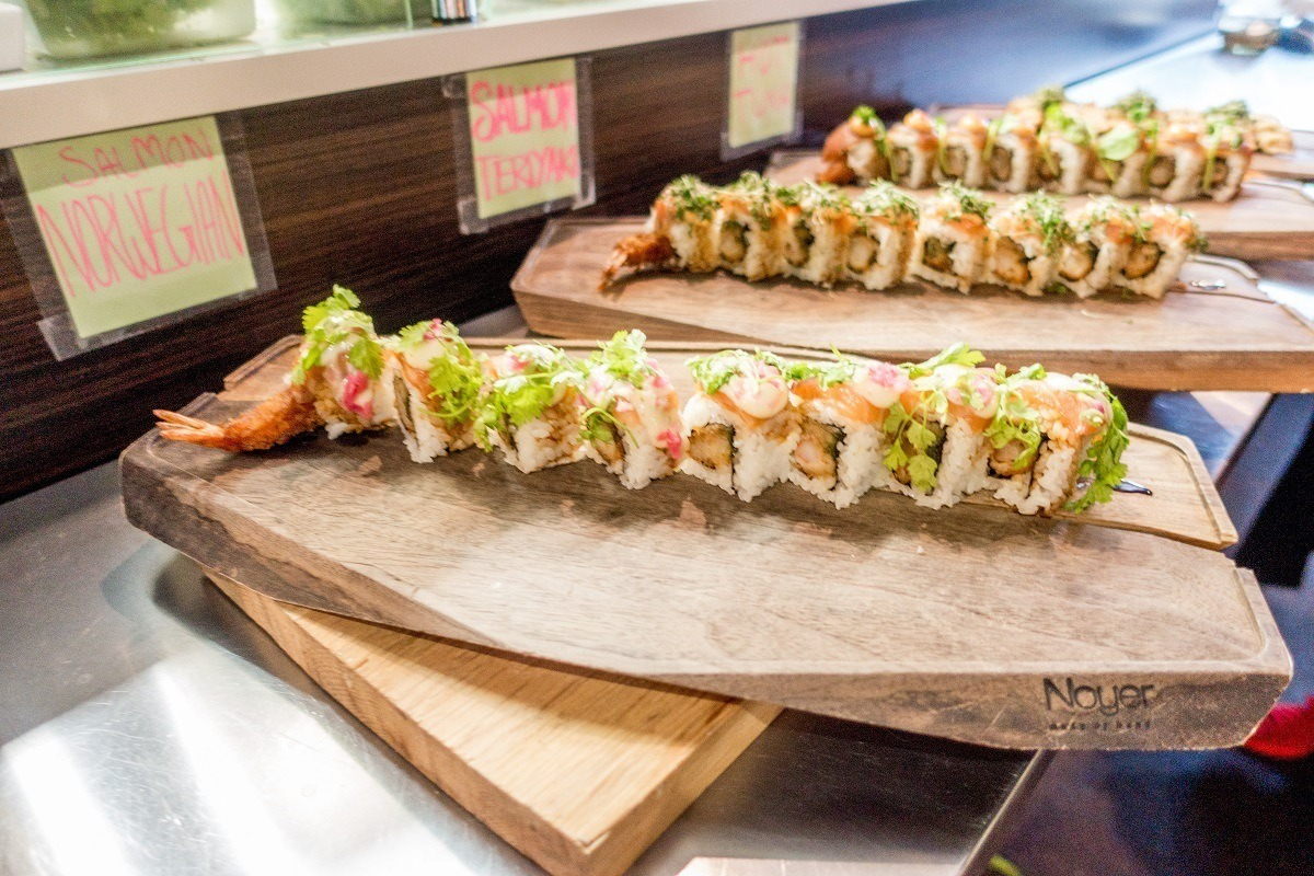 Sushi is one of the many offerings at Copenhagen Street Food
