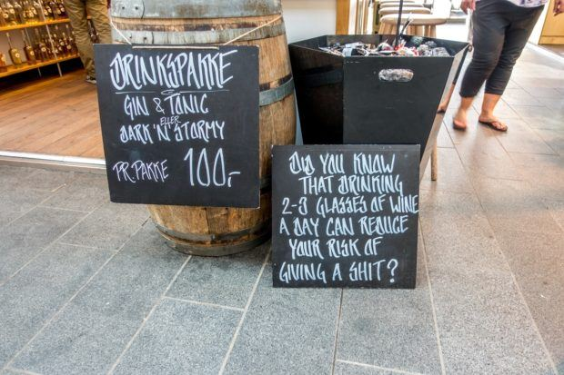 A little humor at Torvehallerne, one of the popular Copenhagen food markets