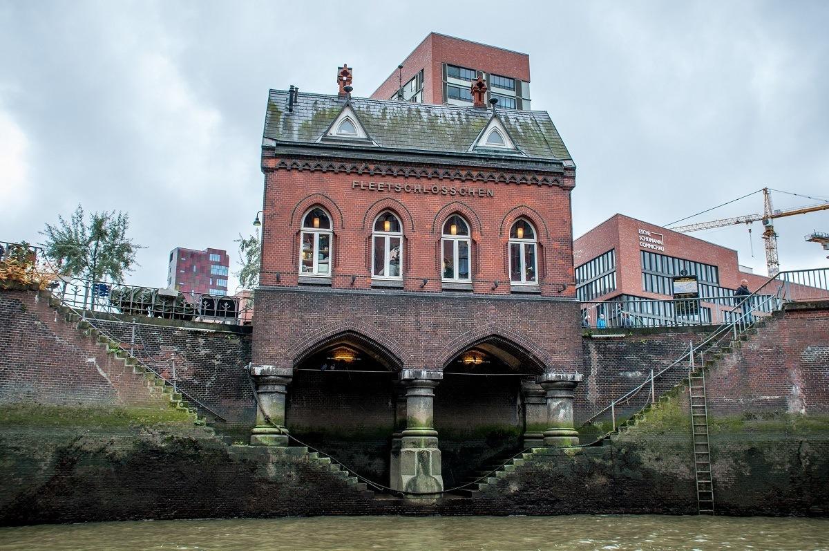 Part of the Speicherstadt, a warehouse district in Hamburg