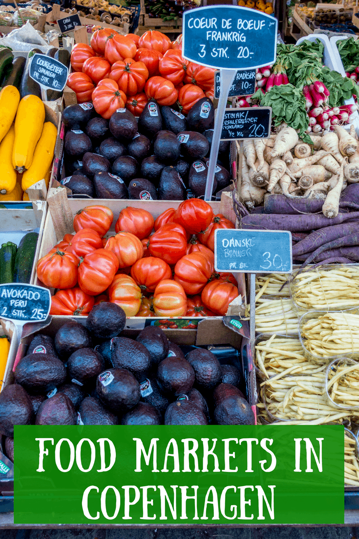 Copenhagen food markets offer fresh produce, great prepared food, and an atmosphere full of fun and energy. Check out these three great markets.