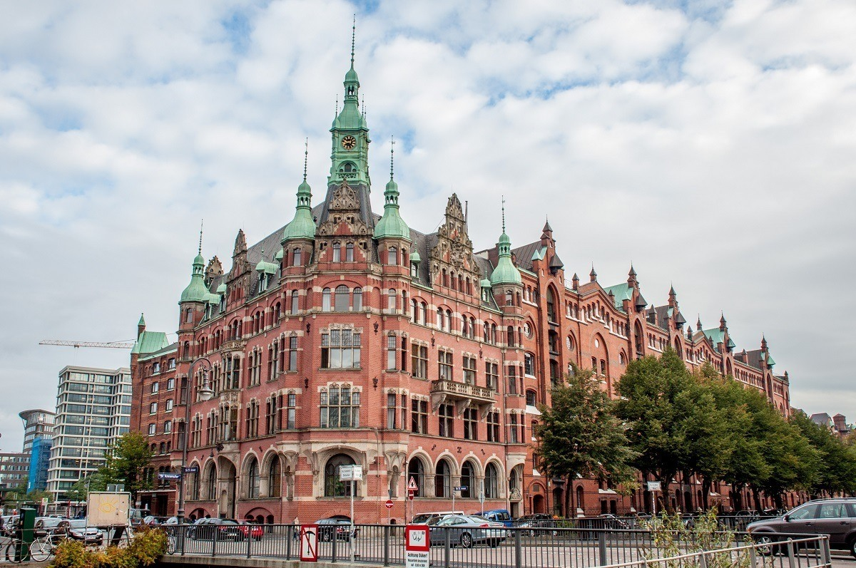 The Rathaus (Town Hall) for the Speicherstadt--the warehouse district in Hamburg