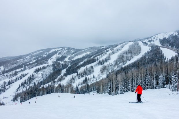 Hitting the slopes at the Steamboat Ski Resort - one of the best ski resorts in Colorado.