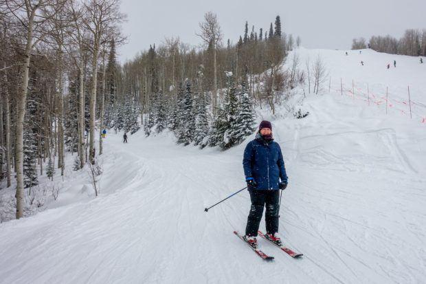 Laura on her Steamboat Springs skiing adventure.