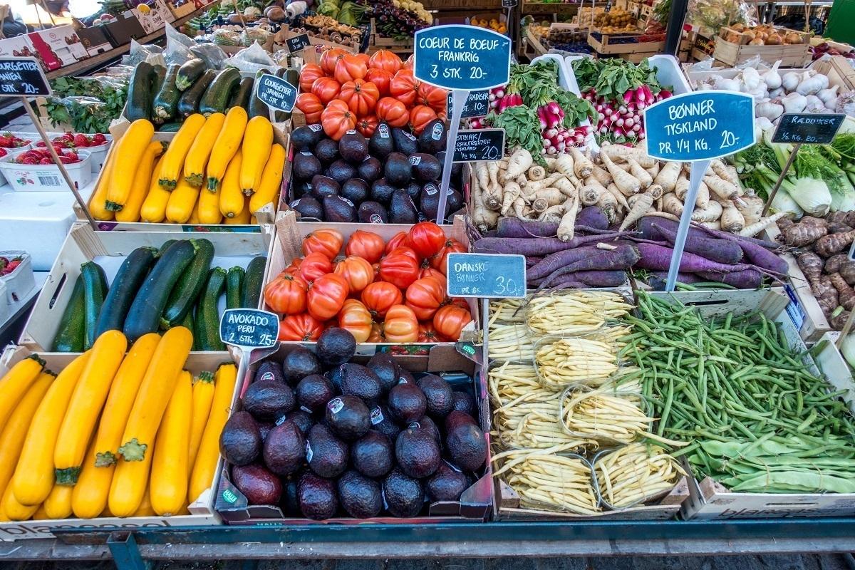 Fruit for sale at Torvehallerne, a Copenhagen food market