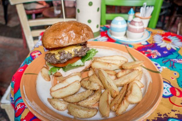 Try the burger at Csendes Vintage Bar, one of the ruin pubs Budapest