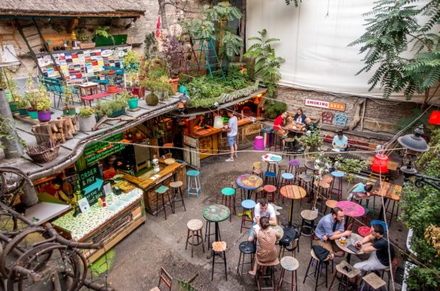 Szimpla kert, one of the most famous ruin pubs in Budapest