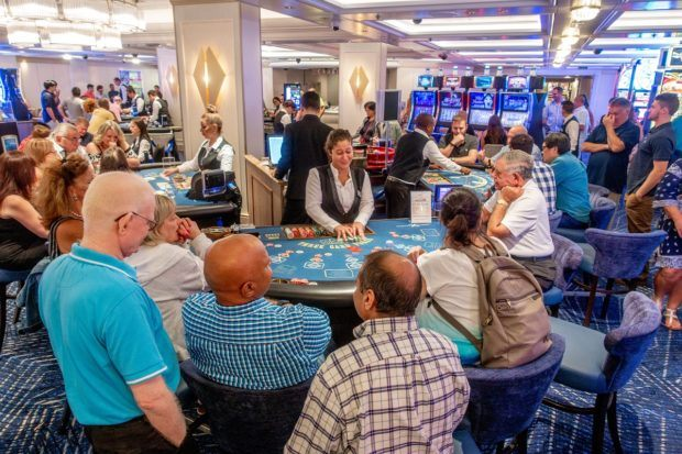 Some cruise information and tips from expert cruisers:  odds in the casino are worse than they are in traditional casinos.  Enjoy the cruise casino for fun, but don't expect to make any money here.  You'll do better at cruise bingo!