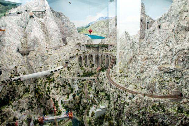 The Alps at Miniatur Wunderland in Hamburg.