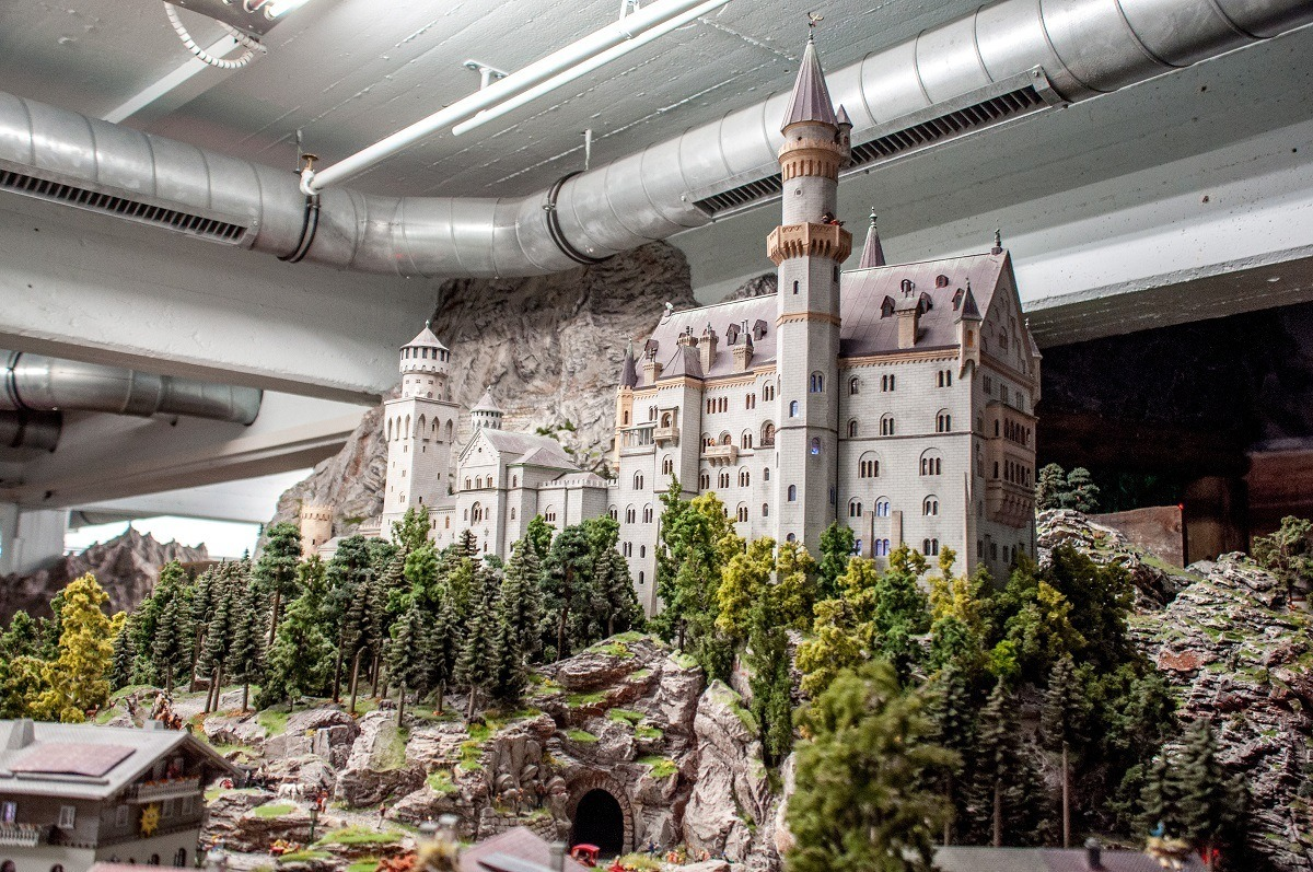 The famous Neuschwanstein Castle is fabulously re-created at Miniature Wonderland in Hamburg.