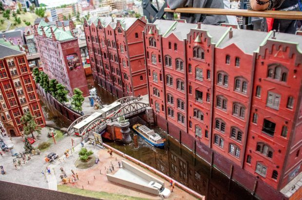 The Speicherstadt model within Miniature Wonderland.
