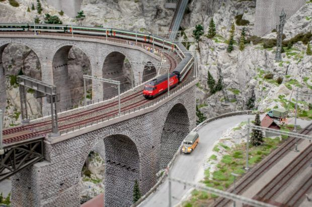 The model railroad at Miniature Wonderland is the largest model train set in the world.