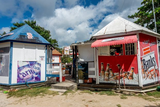 Kiosks on Rockley Beach Barbados