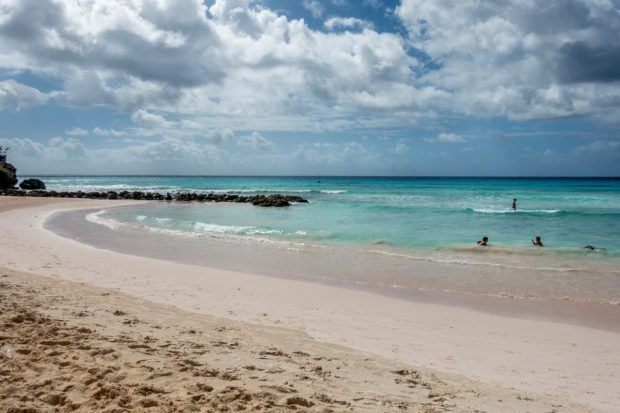 The view from the Tiki Bar on Rockley Beach in Barbados