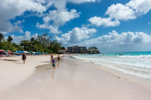 Wandering Rockley Beach in Barbados