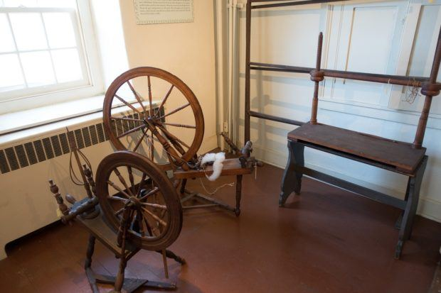 Spinning wheels in the Moravian Single Sisters' House in Bethlehem, PA