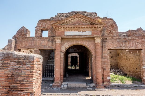 A store building at Ostia Antica near Rome that dates from 140 AD