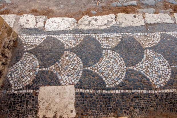 One of the mosaics at Ostia Antica