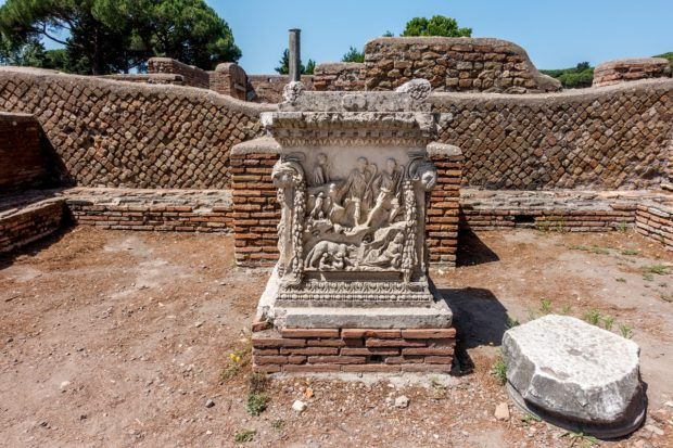 Pedestal at Ostia Antica, Italy | Ostia Antica Rome