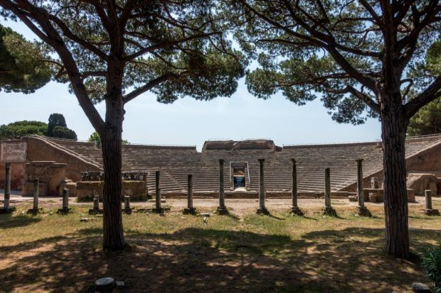 Theater at Ostia Antica in Italy less than an hour from Rome