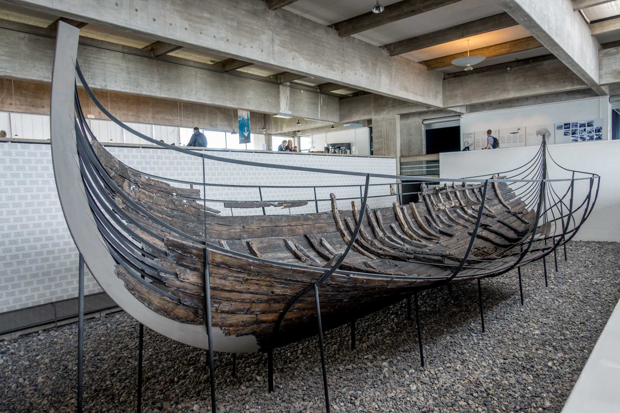 The ships on display at the Roskilde Viking Ship Museum in Denmark date from the 11th century