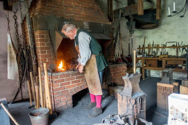 The forge is still in use at the Smithy in Bethlehem, Pennsylvania