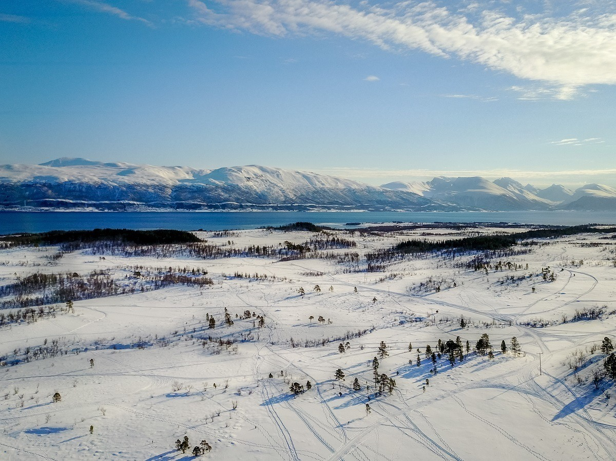 Above the Arctic Circle in Tromso, Norway