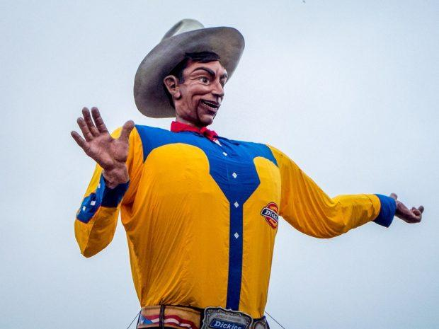 Big Tex. Going to the Texas State Fair is one of the most fun things in Texas.