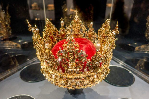 Christian IV's crown in the Treasury at Rosenborg Castle