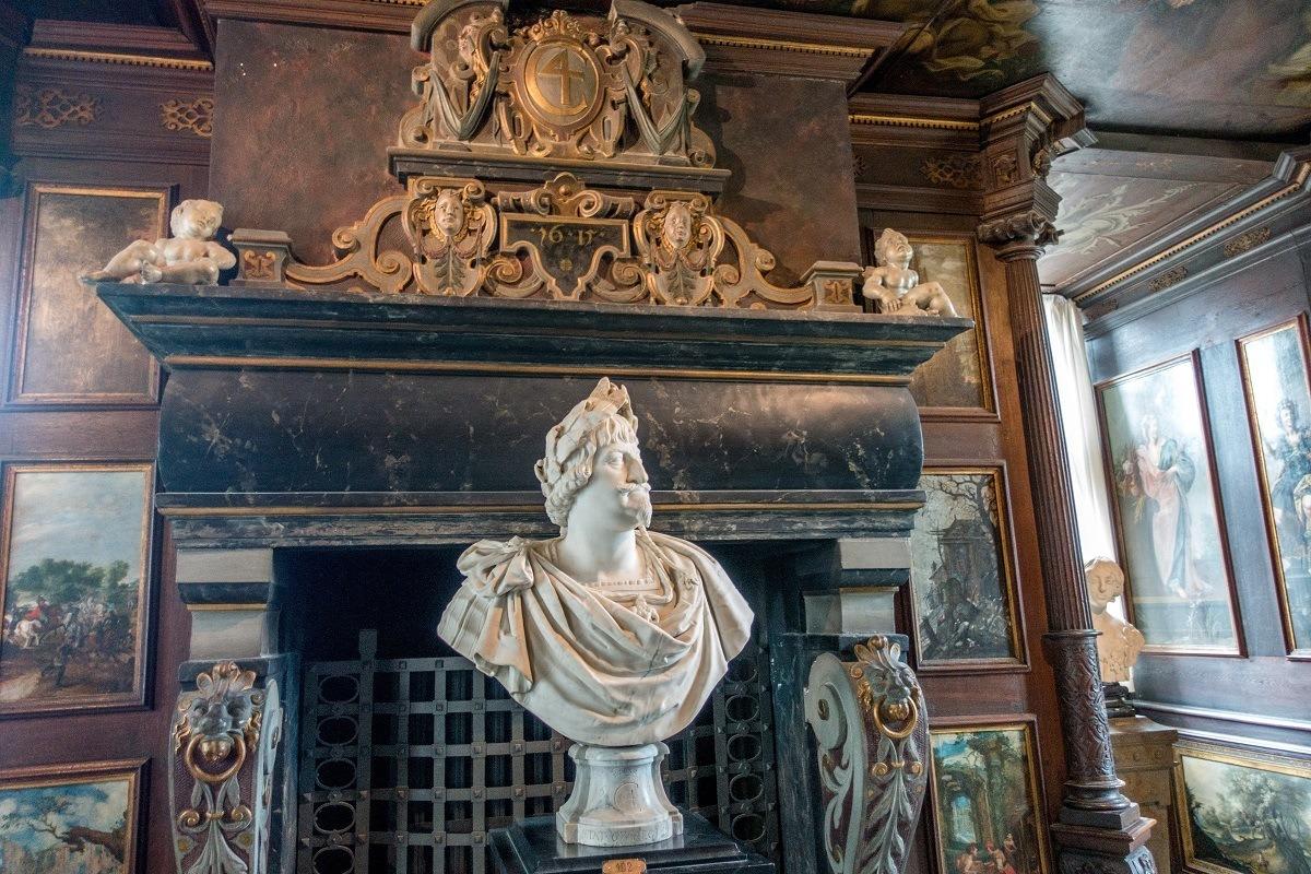 Bust of Christian IV in the Winter Room at Rosenborg Castle