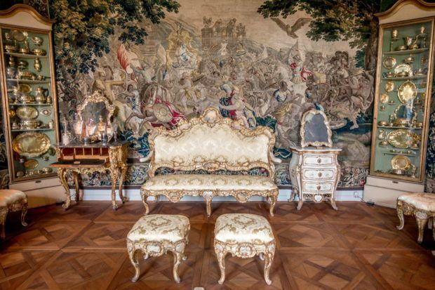 Inside Rosenborg Castle in Copenhagen, Denmark