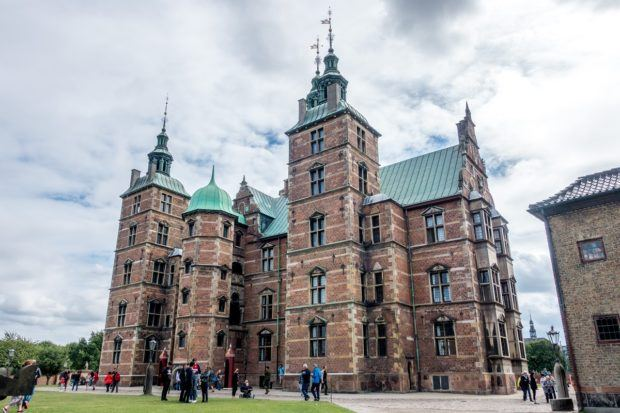 Rosenborg Castle sits in the heart of Copenhagen