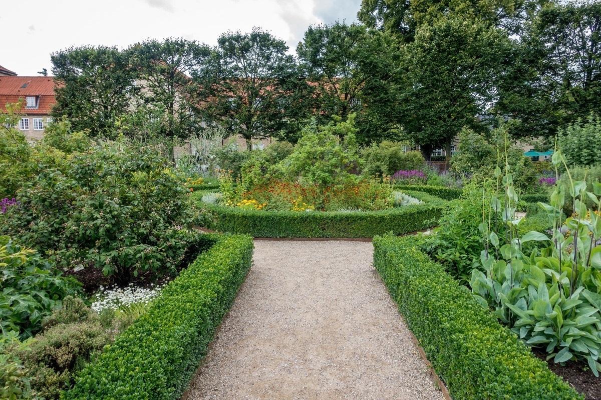 King's garden at Rosenborg Castle in Denmark
