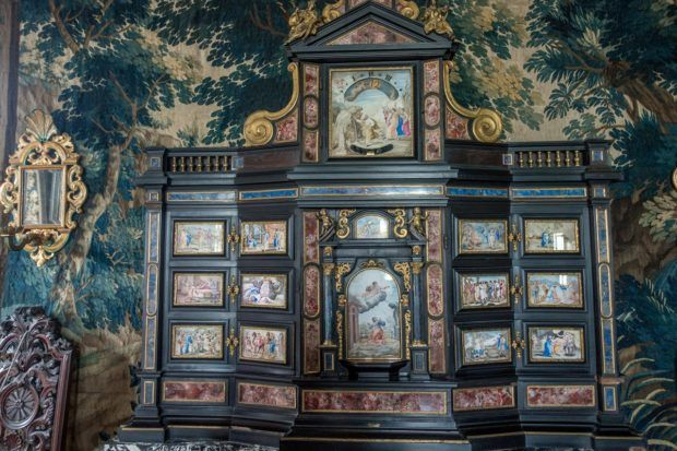 Inlaid cabinet in Rosenborg Castle