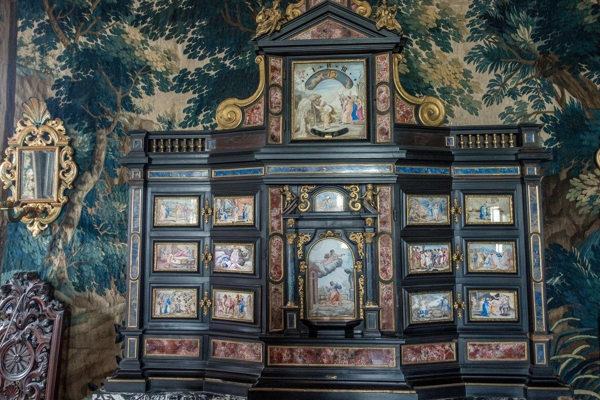 Inlaid cabinet in Rosenborg Castle