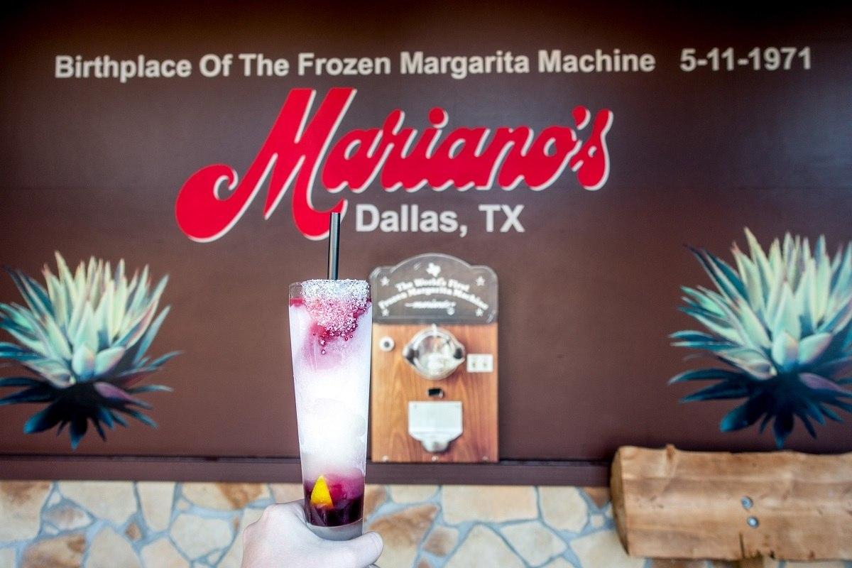 "Frozen margarita at Mariano's Hacienda, the ""birthplace of the frozen margarita machine"""