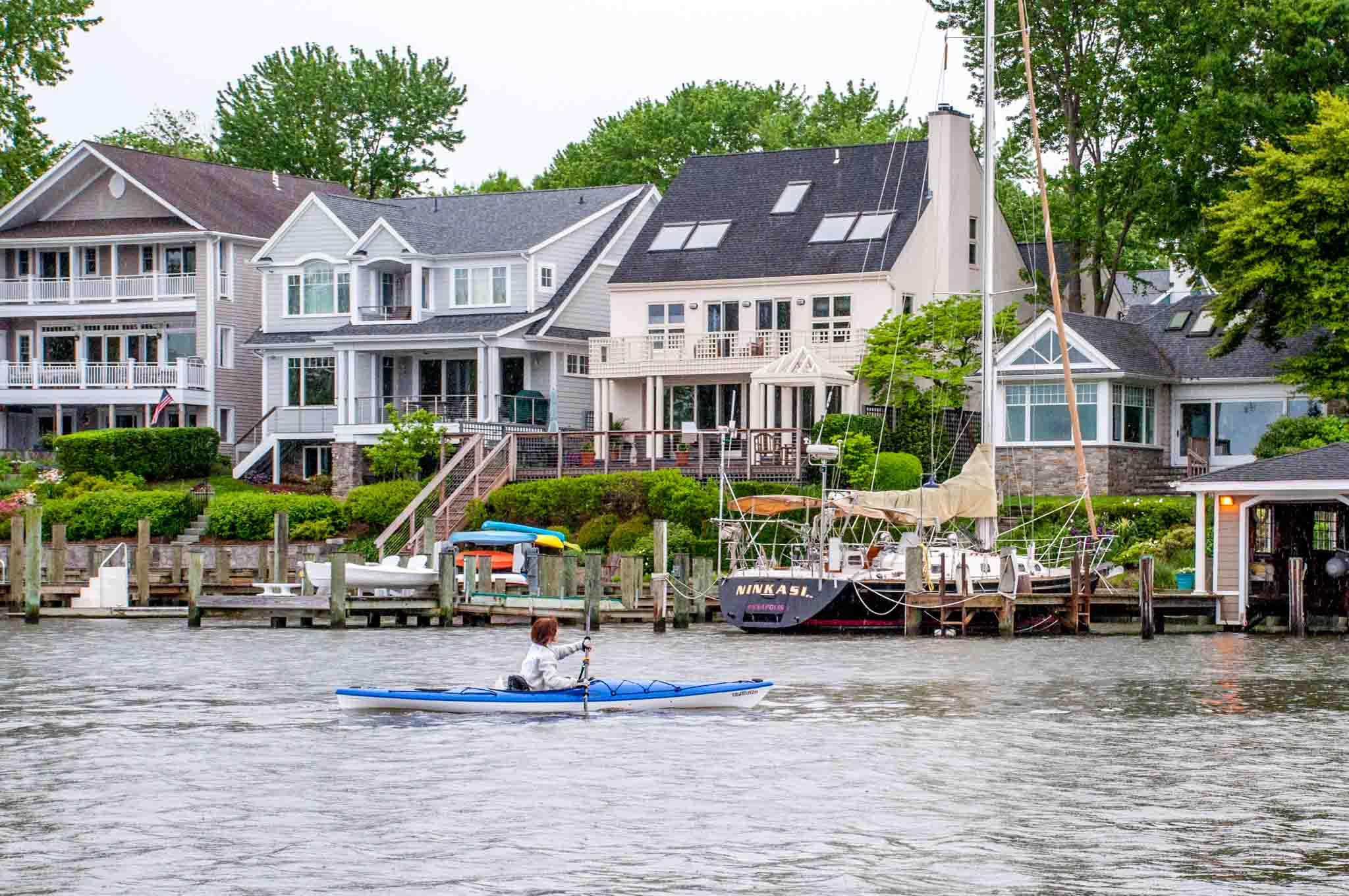 With Annapolis Electric Boats, you can drive your own boat and see views like this along the creeks