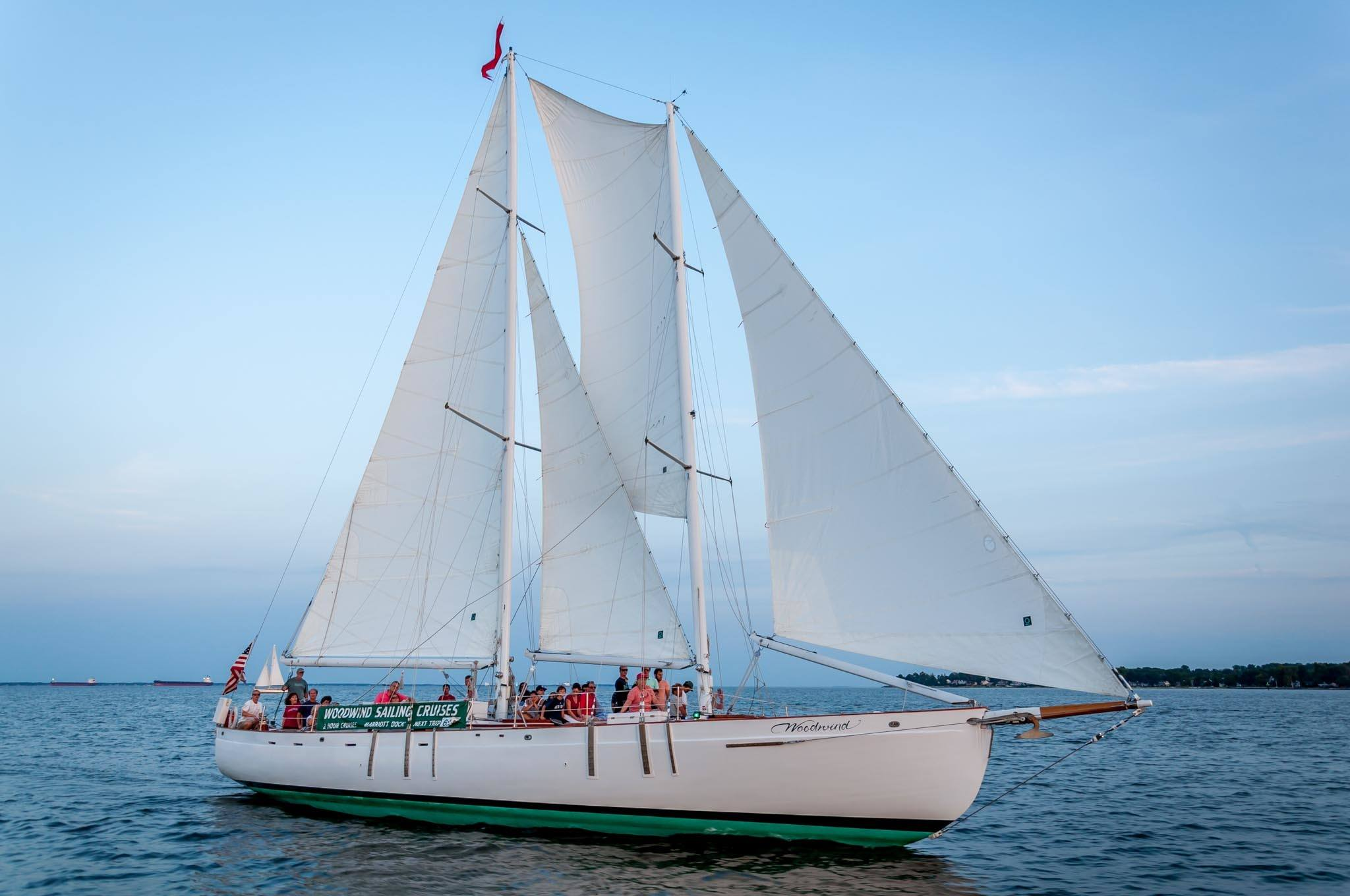 The Schooner Woodwind on the Chesapeake Bay in Annapolis