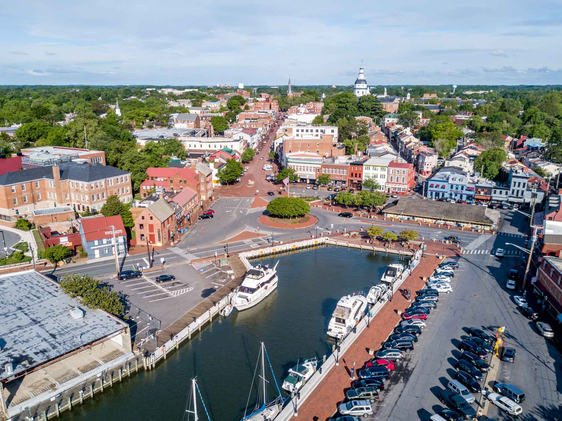 Downtown Annapolis, one of the best weekend getaways in the US