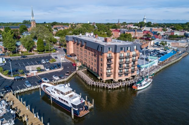 The Annapolis Waterfront Hotel is the only hotel right on the water in downtown Annapolis.