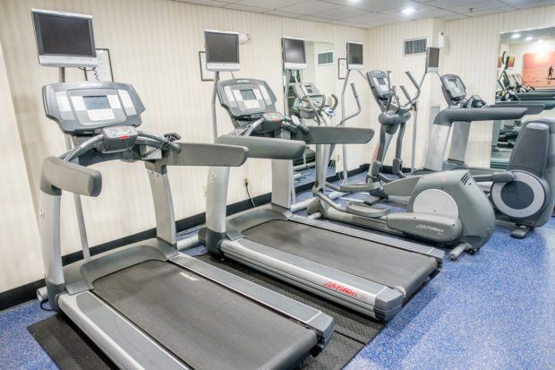 The fitness center at the Annapolis Waterfront Hotel.