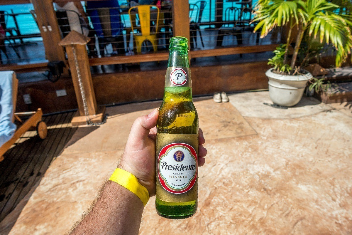 A bottle of Presidente Beer from the Dominican Republic
