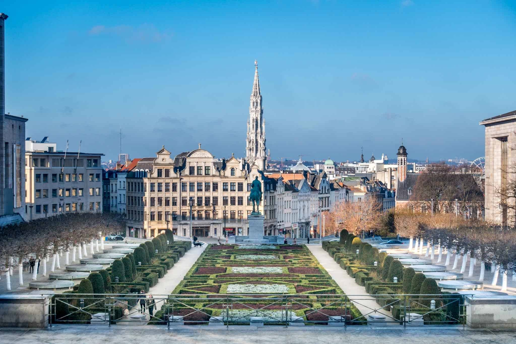 Seeing the view from Mont des Arts is one of the best things to do in Brussels in a day
