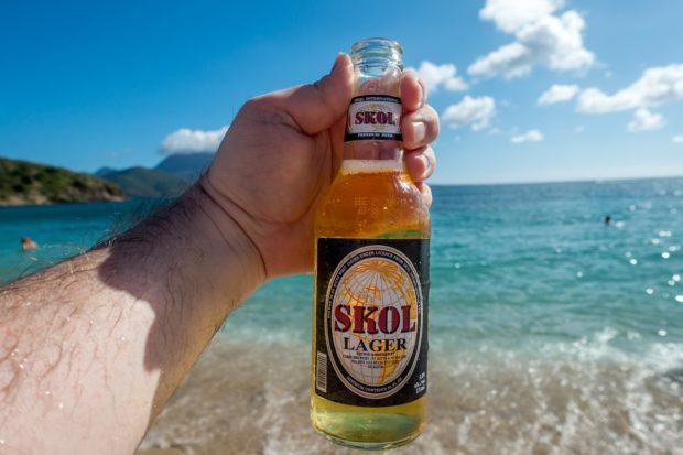 Skol Lager from St. Kitts, one of my favorite Caribbean beers.
