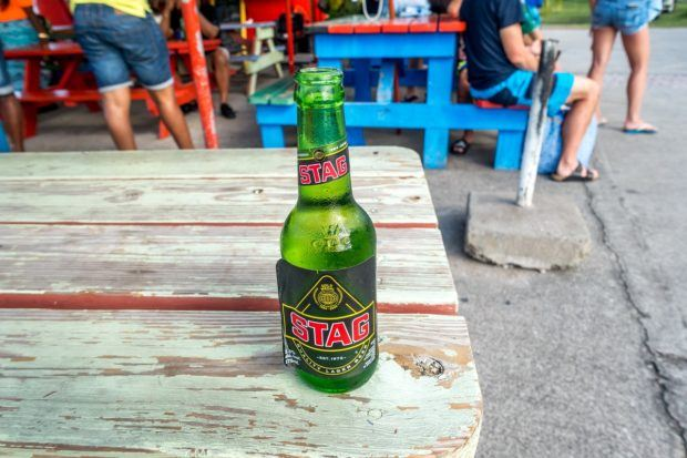 Stag Beer in St. Kitts.