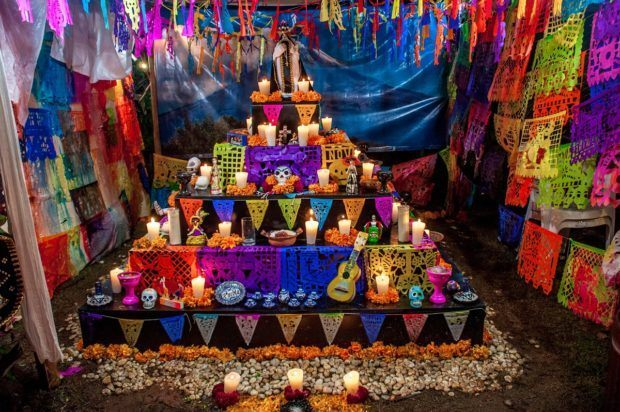 Altar for Day of the Dead in Mexico