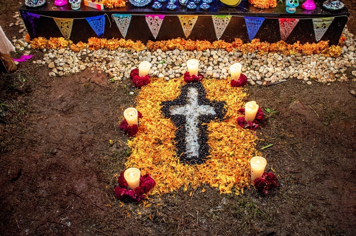 Altar for the Day of the Dead festival in Mexico