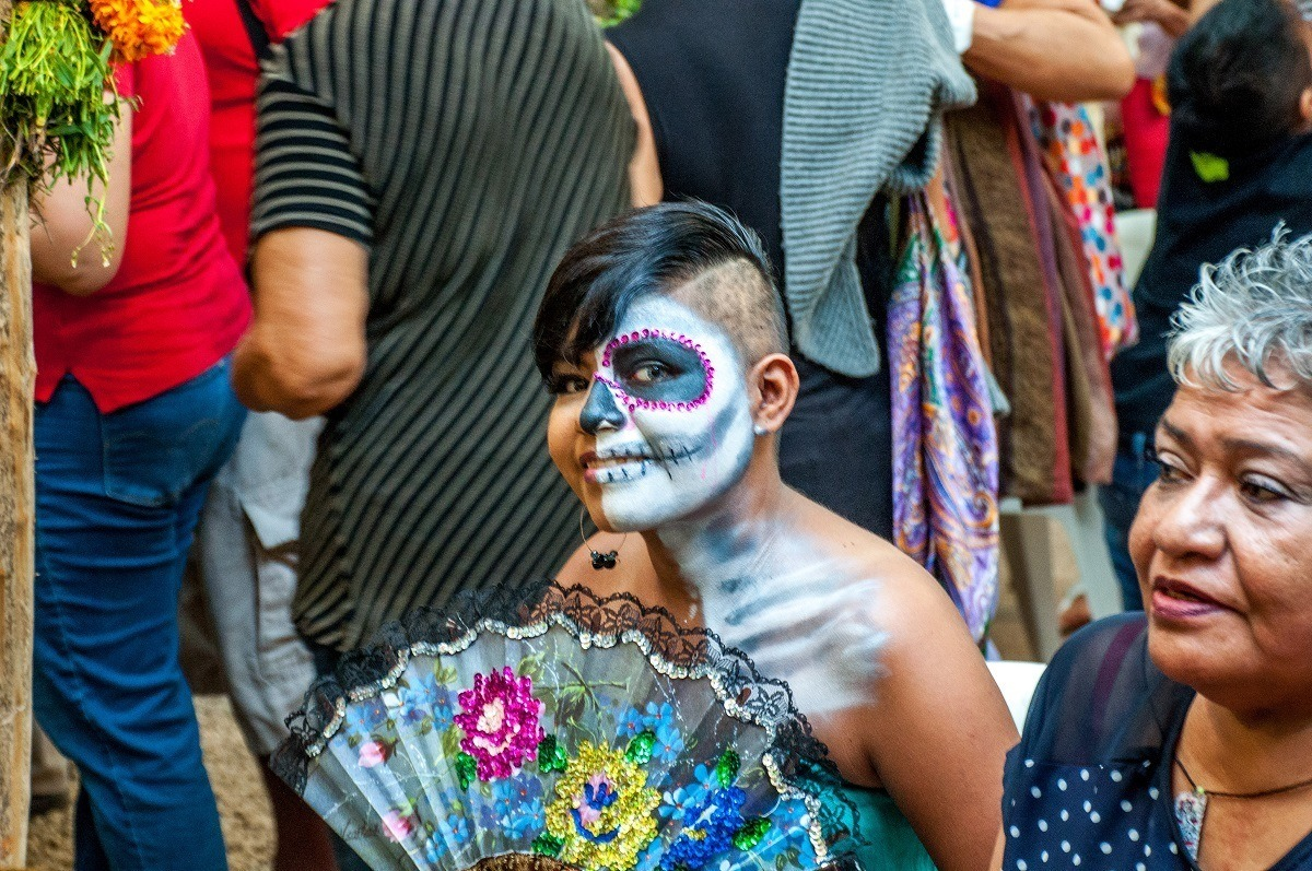 Lots of guests at Xcaret get into the spirit of the Day of the Dead holiday